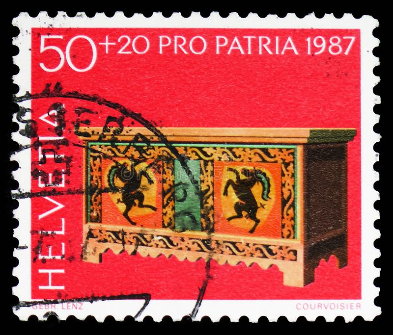 Footlocker (шестнадцатое/семнадцатое Cty ), Pro serie Patria, около 1987 стоковое изображение rf