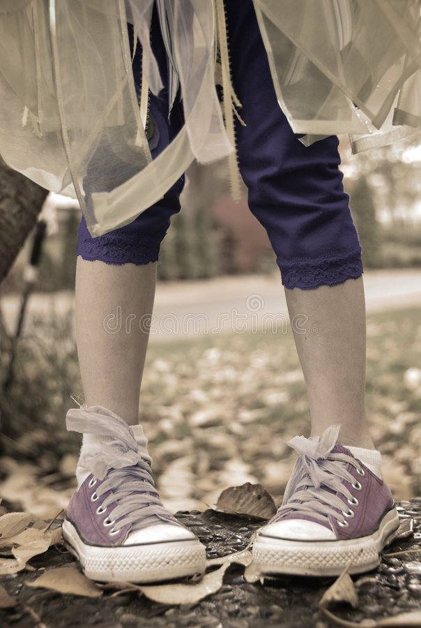 Download Footloose stock image. Image of children, shoes, converse - 7122161