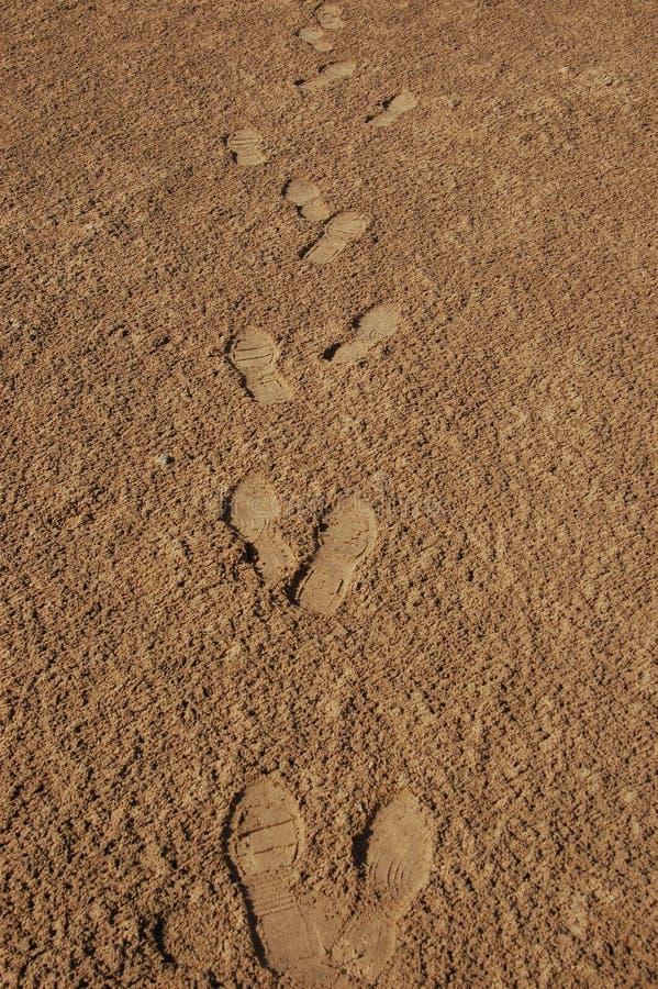 Download Footmarks in the desert stock photo. Image of desert - 18139962