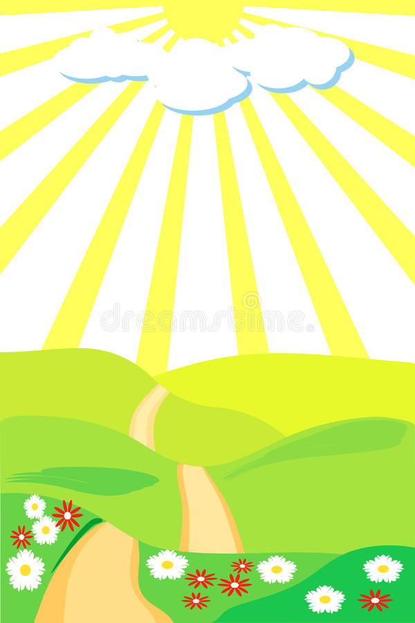 Download Footpath stock vector. Image of park, lawn, grass, light - 10561626