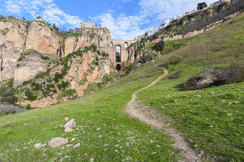 Download Footpath Leading To Ronda Spain Stock Image - Image: 33638221