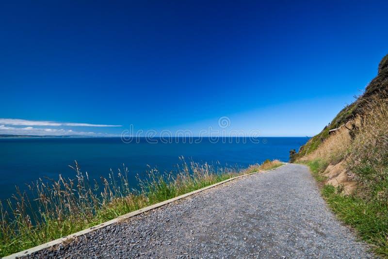 footpath nowy bryłki punkt Zealand obrazy royalty free