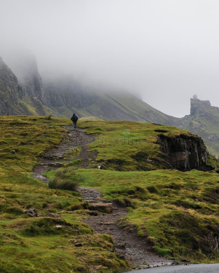 Footpath Quiraing góra, wyspa Skye obrazy stock