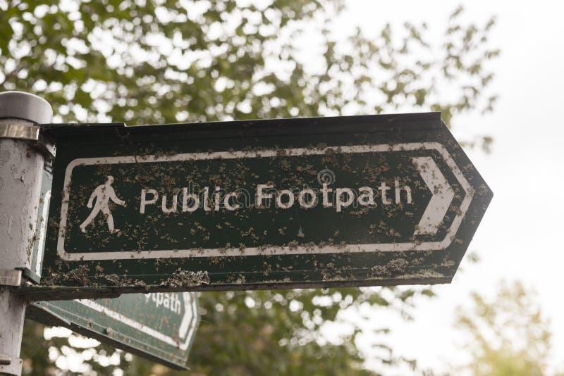 footpath spo?ecze?stwa znak obraz stock