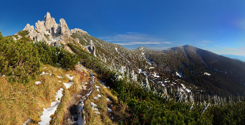 Footpath in Tatra mountain - West Tatras royalty free stock photography