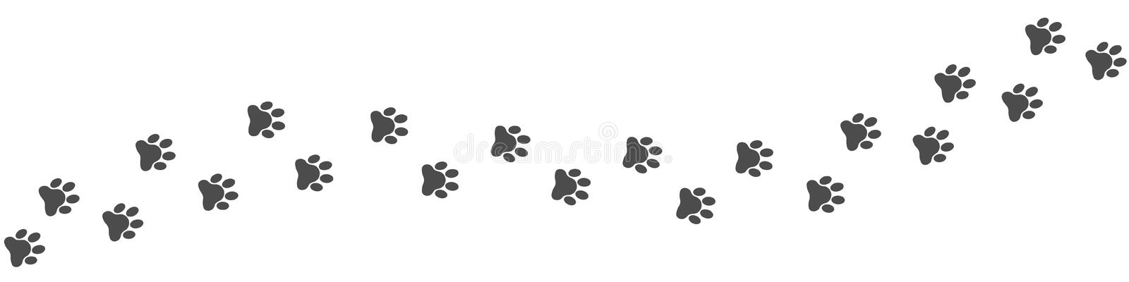 Footpath trail of animal royalty free illustration
