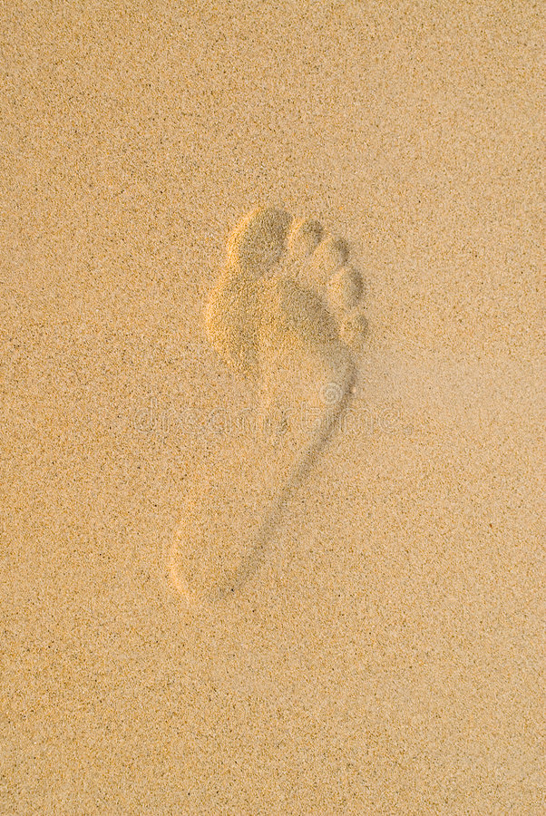 Footprint 2 royalty free stock images