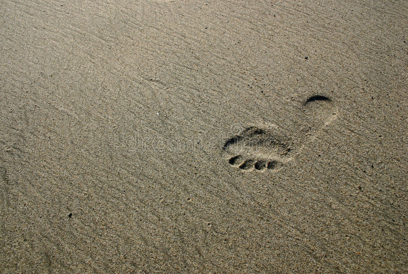 Footprint stock photo