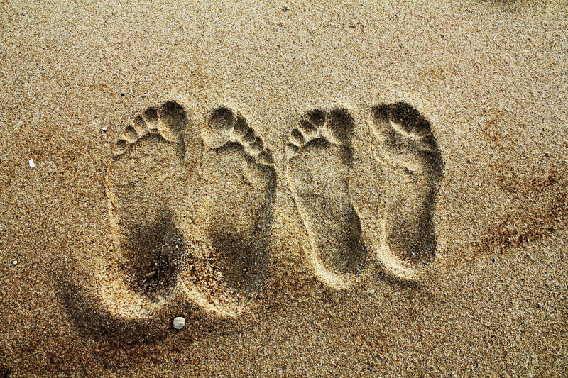 footprint obrazy royalty free