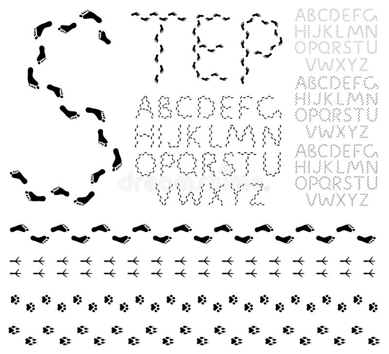 Download Footprint alphabet stock vector. Image of collection - 21844439
