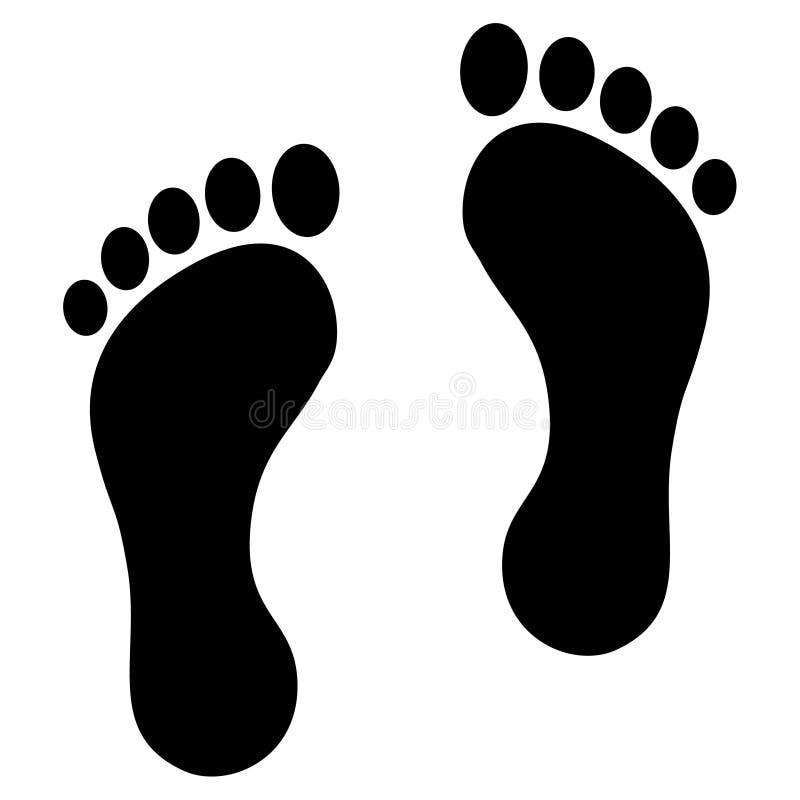 Download Footprint black stock illustration. Image of body, anatomy - 24847748
