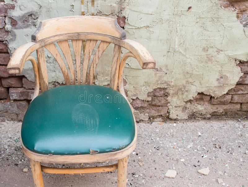 Footprint on a chair. royalty free stock photo