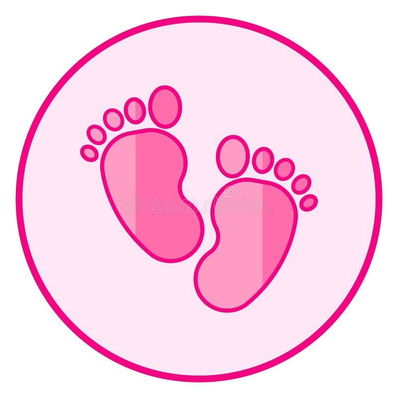 footprint E royalty ilustracja