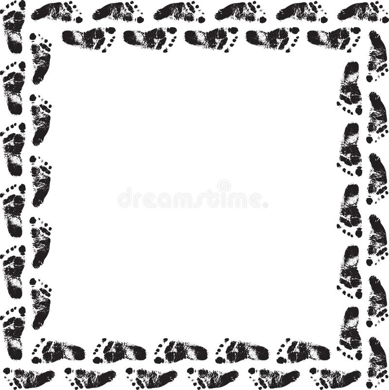 stock images footprint frame picture image 8649634