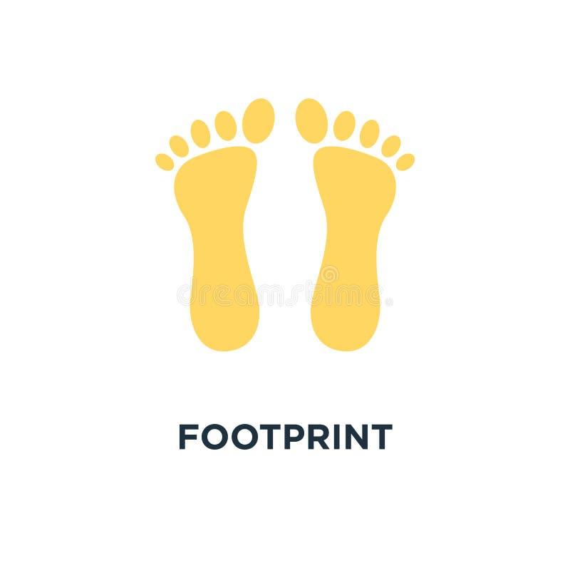 footprint icon. human foot print, feet silhouette concept symbol vector illustration