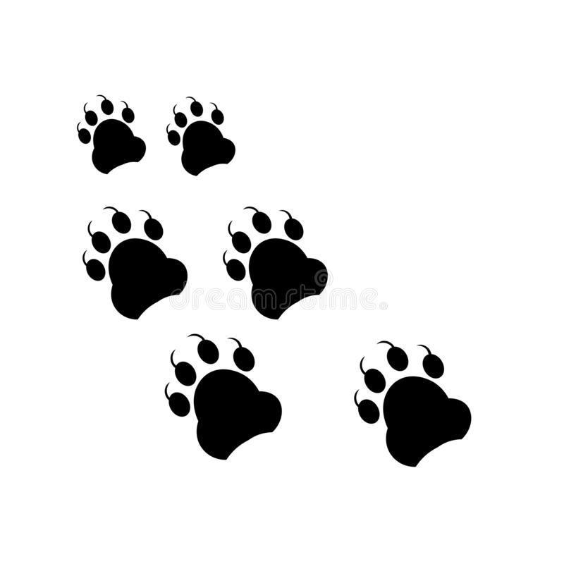 Footprint icon vector sign and symbol isolated on white background, Footprint logo concept stock illustration