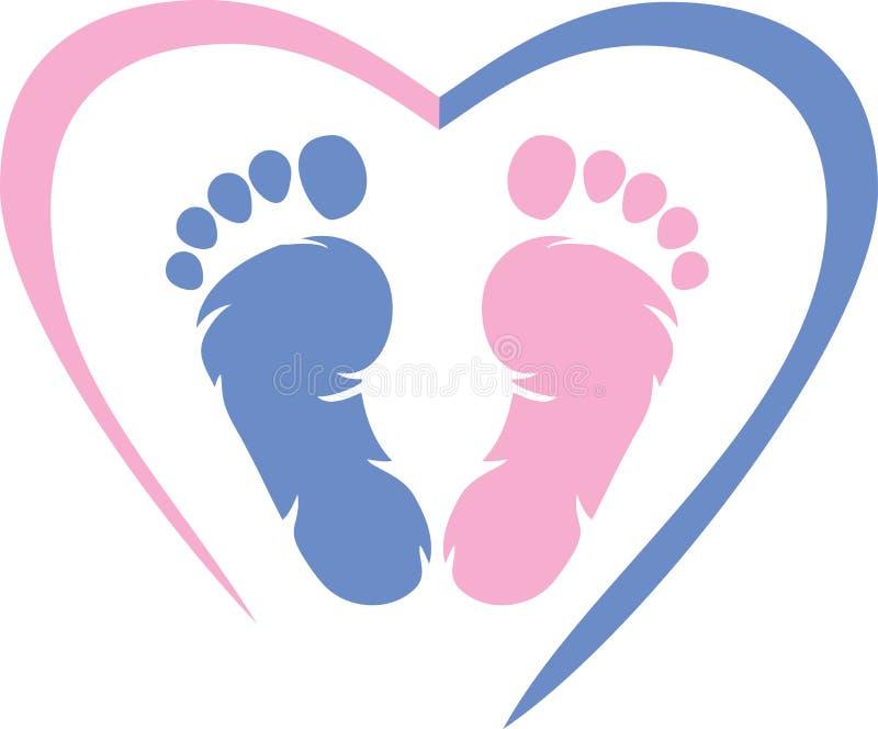 footprint Ikona dla projekta royalty ilustracja