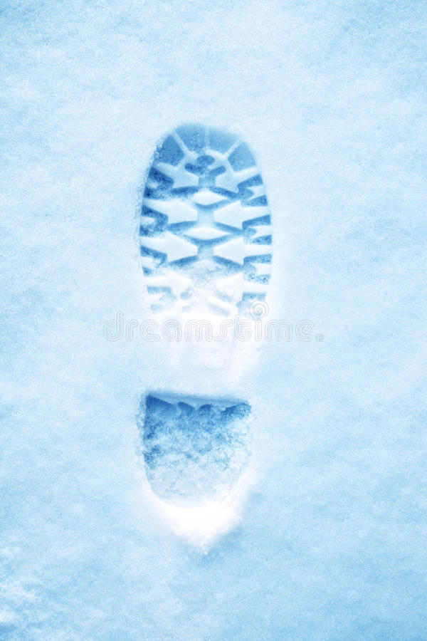 Free Footprint In Snow Royalty Free Stock Photo - 11259875