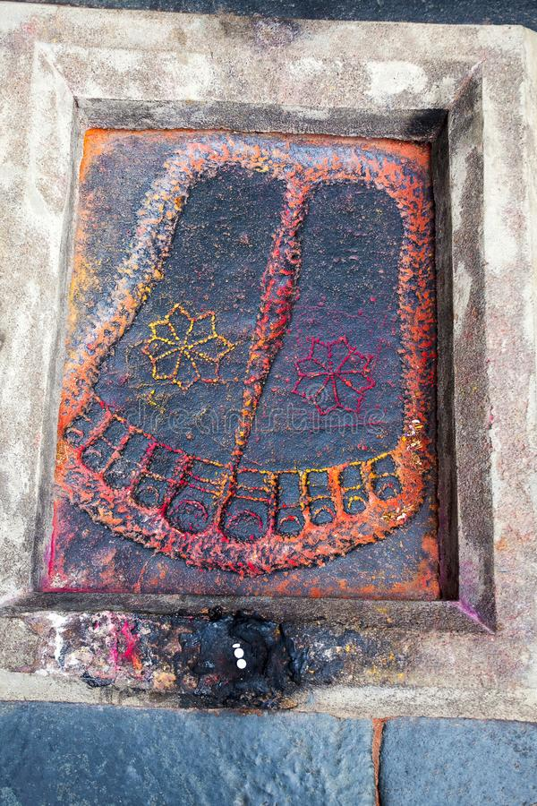 Footprint of Lord Vishnu, Chennakeshava temple. Belur, Karnataka. Footprint of Lord Vishnu, Chennakeshava temple. Belur, Karnataka India stock photos