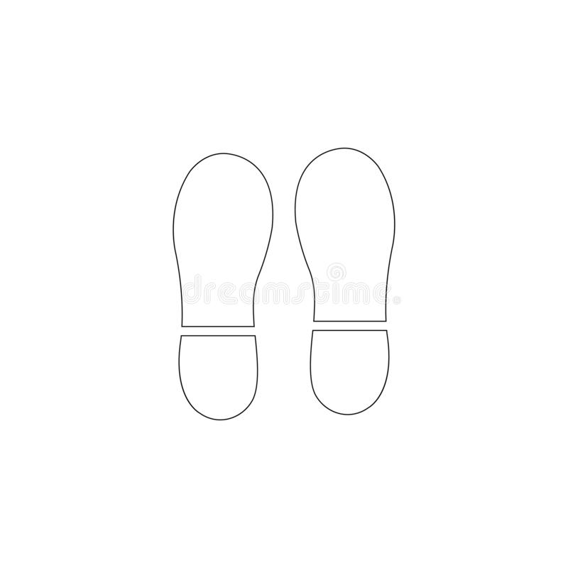 footprint P?aska wektorowa ikona ilustracja wektor