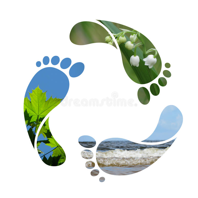 Free Footprint Recycle Sign Royalty Free Stock Photos - 9679968