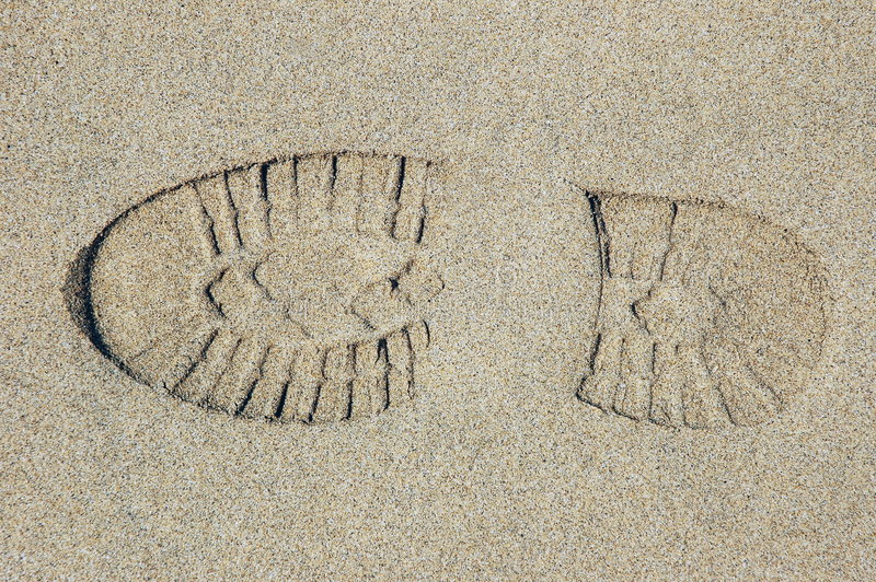 Download Footprint in the sand stock image. Image of sand, digital - 151627