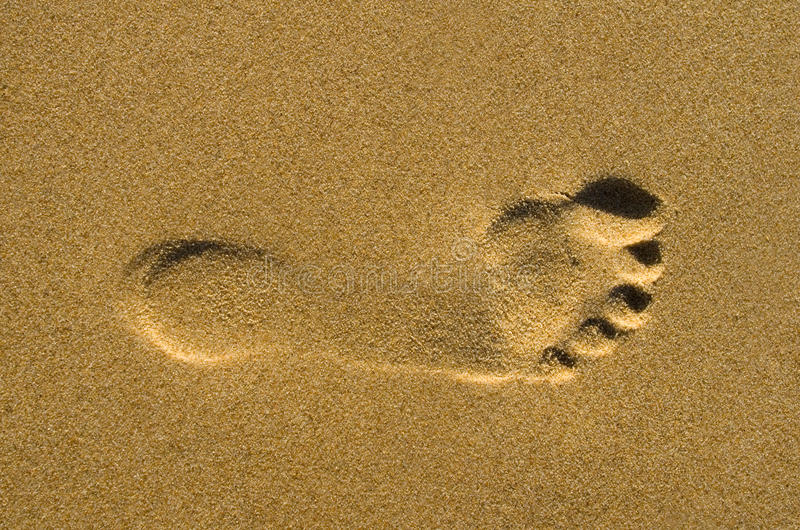 Download Footprint on sand stock photo. Image of recreation, summer - 27753680