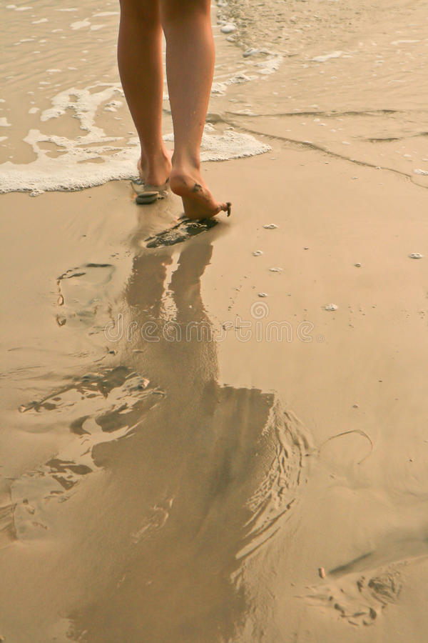 Download Footprint on sand stock photo. Image of tropical, beach - 29520308