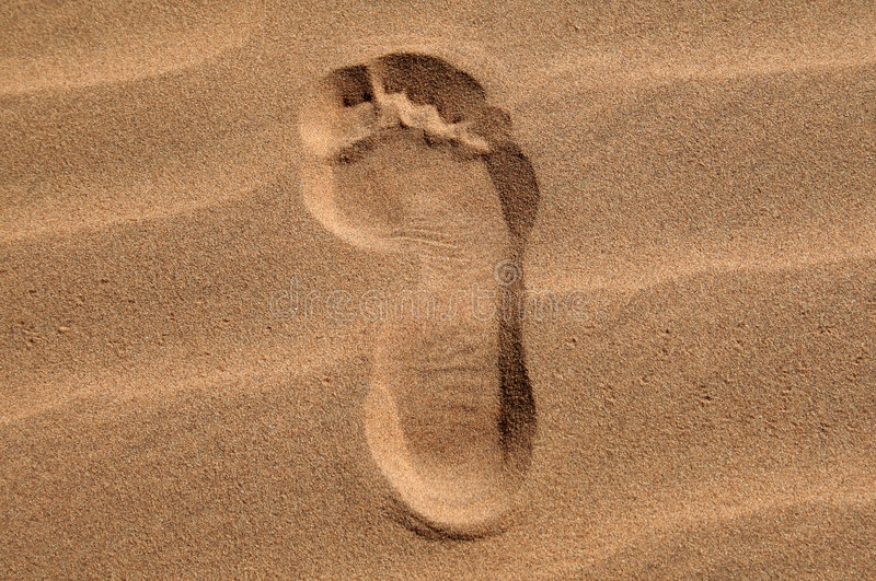 Download Footprint In The Sand Royalty Free Stock Photo - Image: 4035815