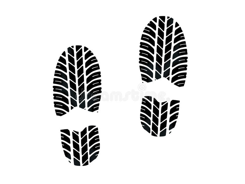 Download Footprint with tires tread stock illustration. Illustration of isolated - 22546571