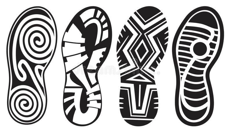 Footprint vector set stock illustration