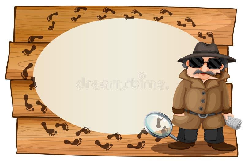 Footprinted дизайн рамки с шпионкой и бесплатная иллюстрация