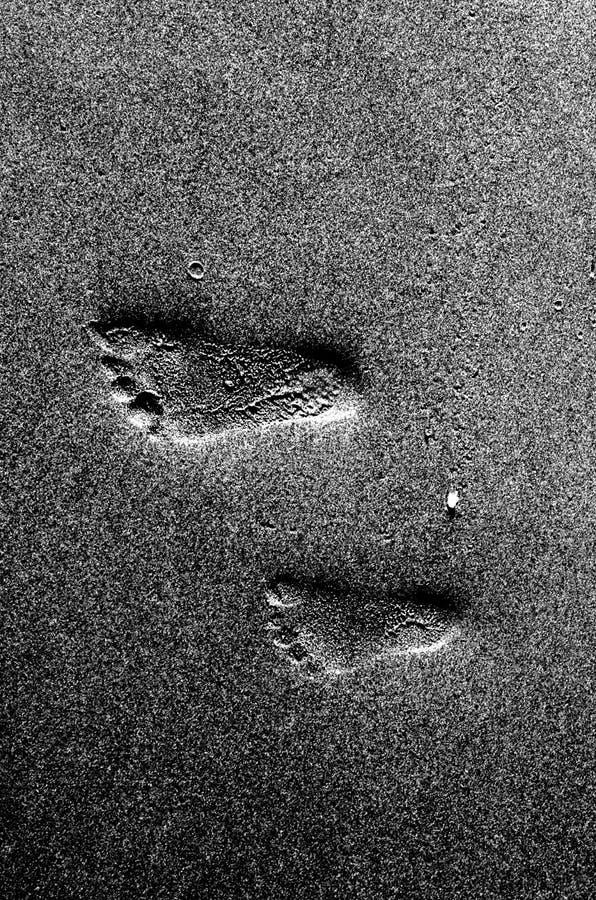 footprints obraz stock