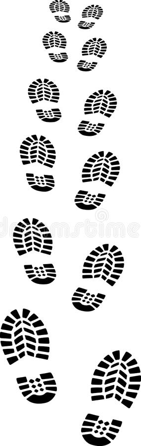 Download Footprints stock vector. Image of come, pitch, away, walk - 22701102