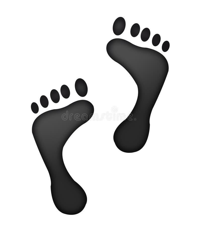 Footprints royalty free illustration