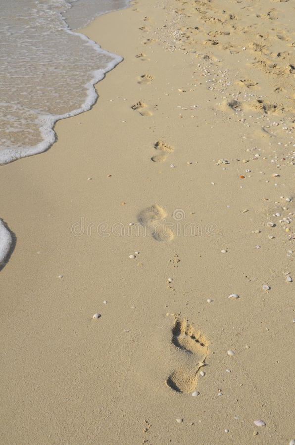 footprints obrazy stock