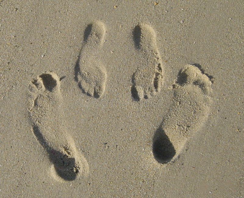 Download Footprints stock image. Image of metaphor, feet, romantic - 459027