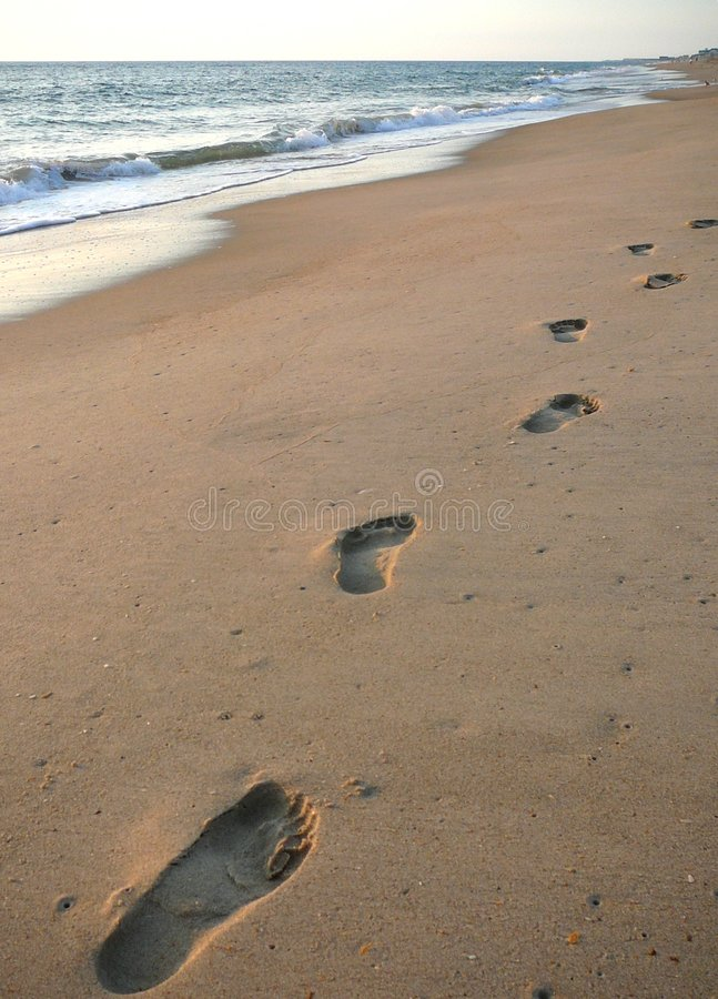 Download Footprints on the beach stock image. Image of explore - 1178515