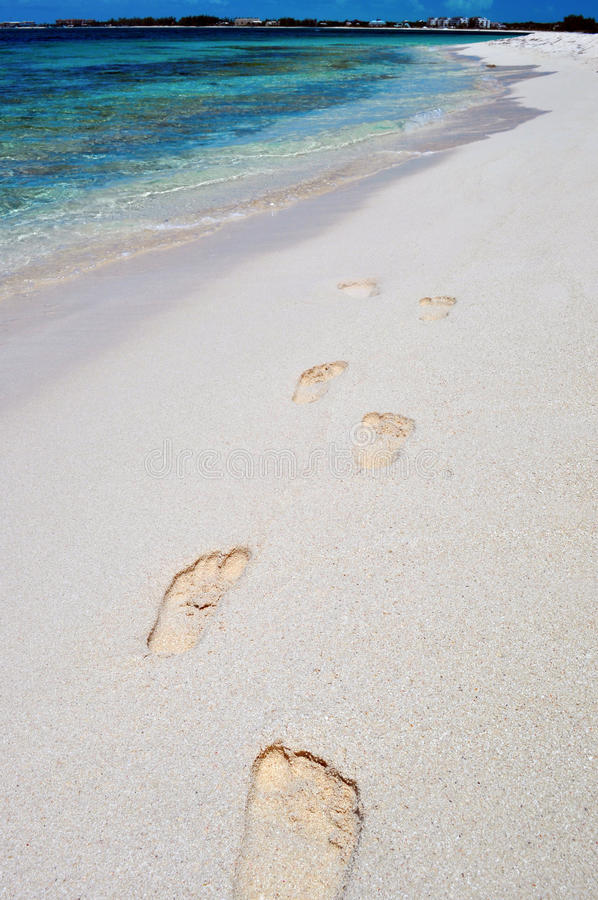 Download Footprints on the Beach stock image. Image of landscape - 26439419