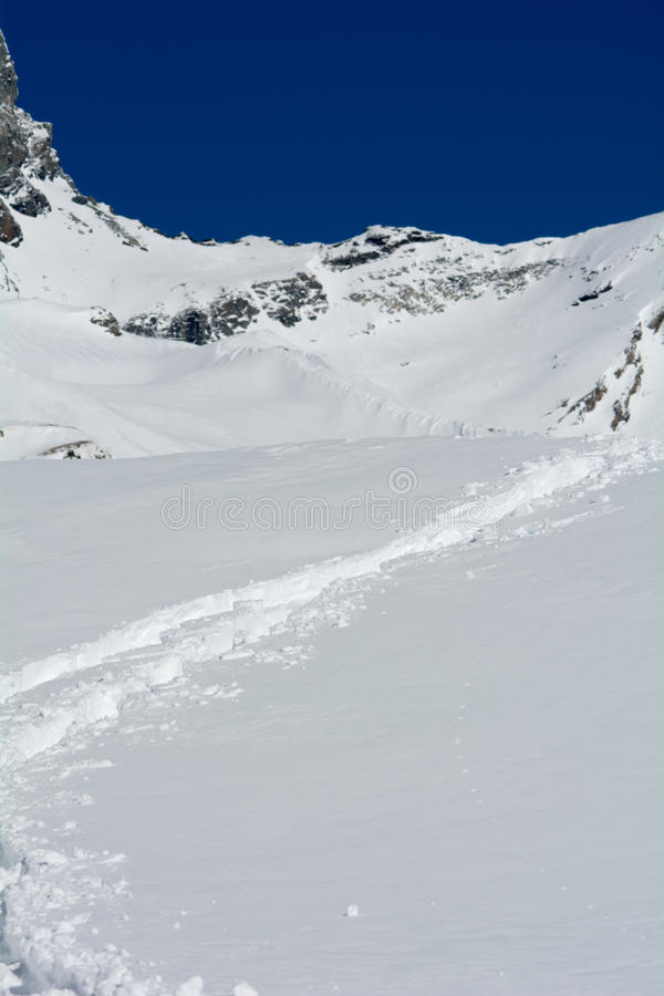 Download Footprints In The Fresh Snow Stock Image - Image: 40229581