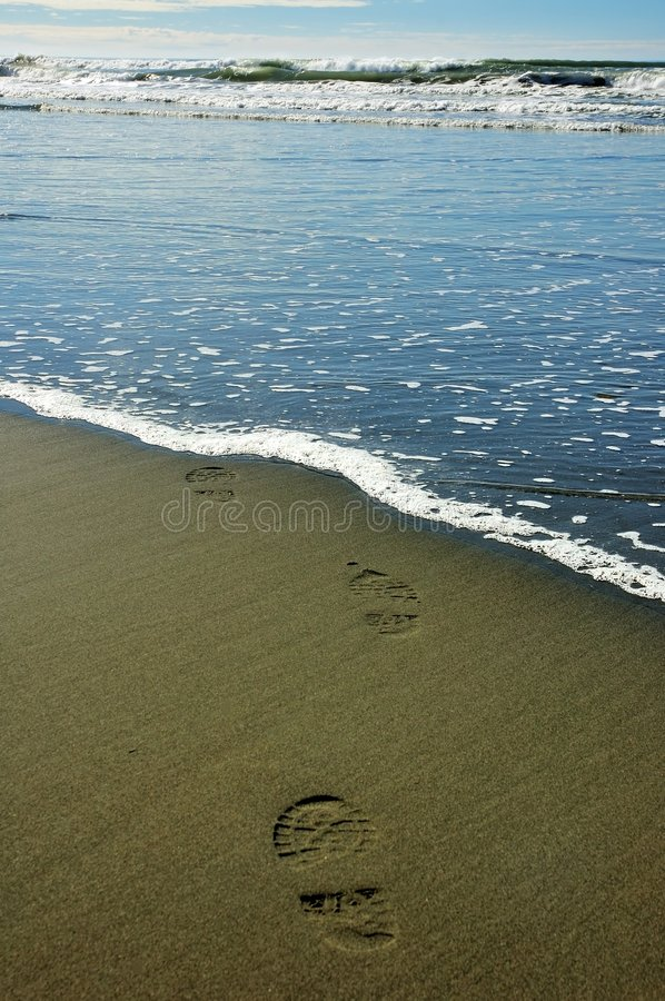 Free Footprints In Sand Royalty Free Stock Photos - 8767518