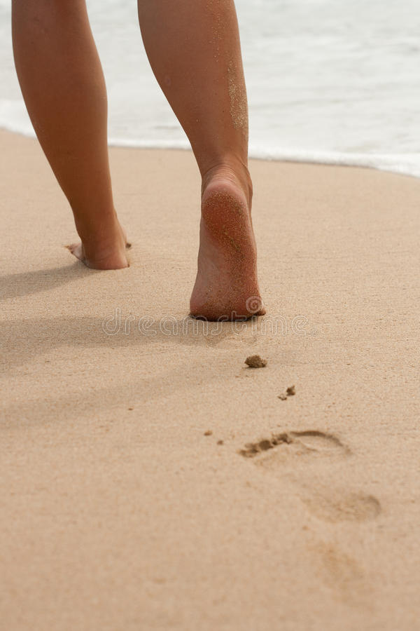 Free Footprints In The Sand Royalty Free Stock Images - 18170829