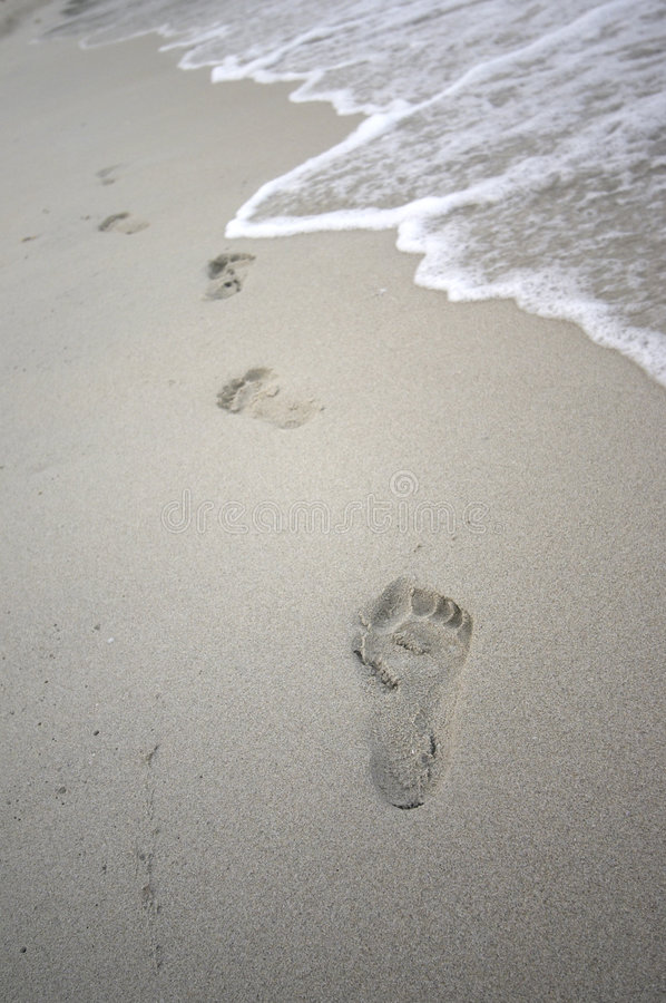 Free Footprints In The Sand Stock Photos - 201093