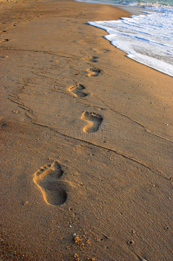 Free Footprints In The Sand Stock Image - 2373041