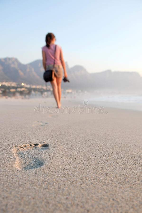 Free Footprints Of A Girl Stock Photography - 10223492