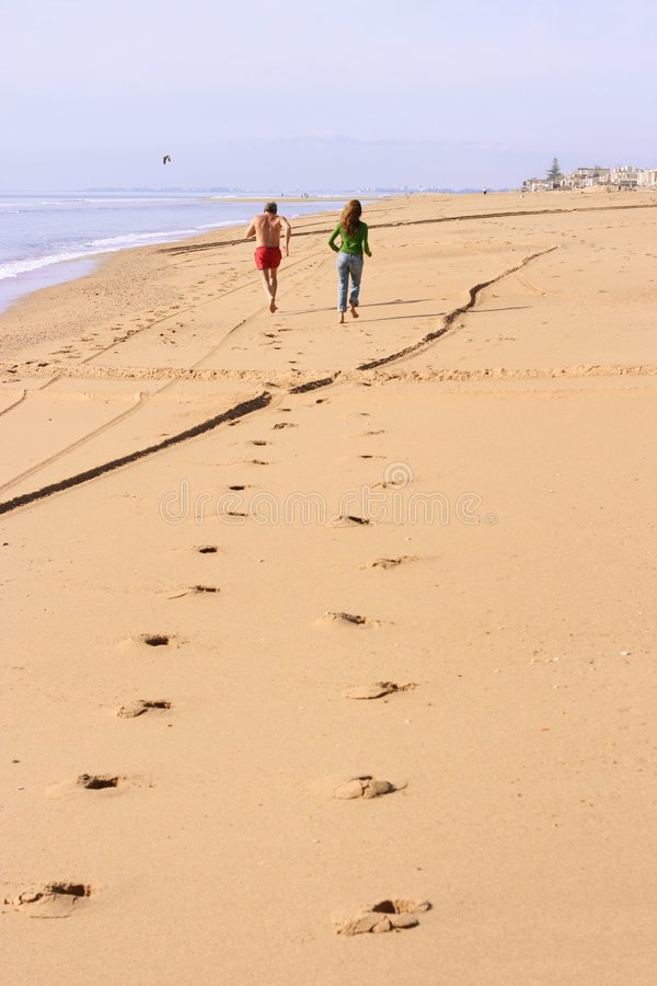 Free Footprints Of Competing At The Beach Royalty Free Stock Photo - 1792835