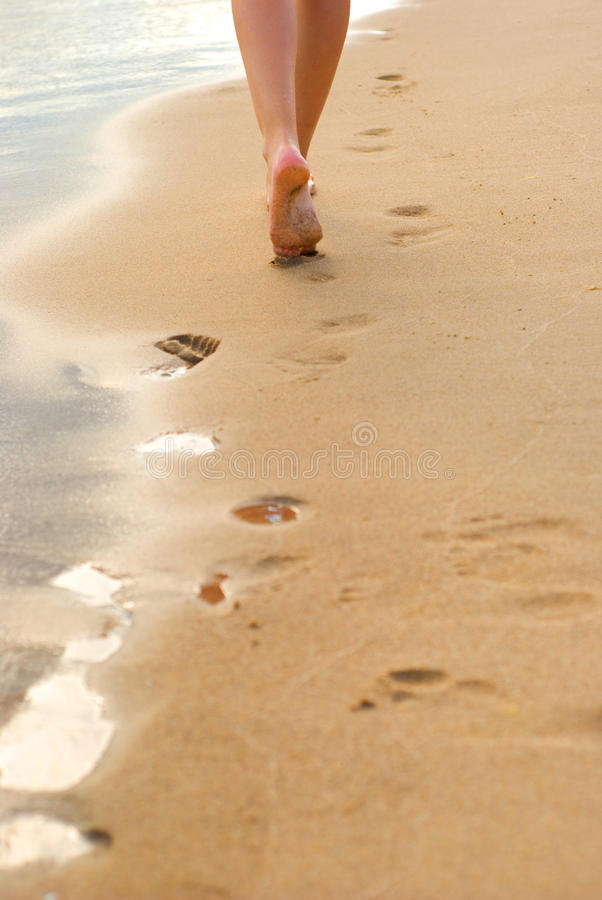 Free Footprints On The Beach Stock Photography - 15732952