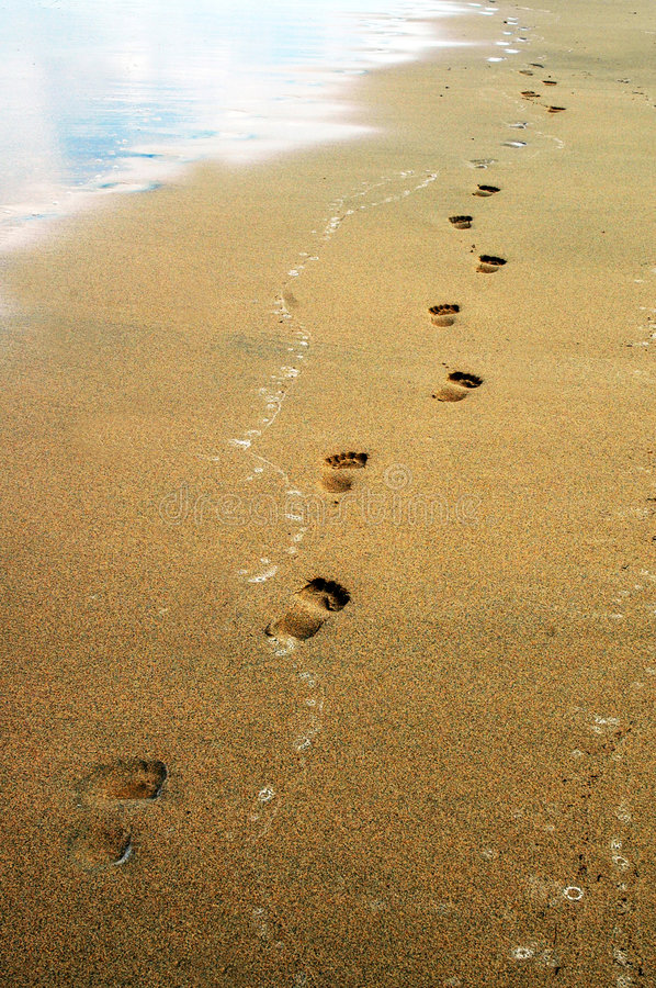 Free Footprints On The Sand Stock Image - 7534151