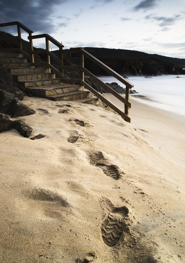 Download Footprints in the sand stock image. Image of landscape - 28933597