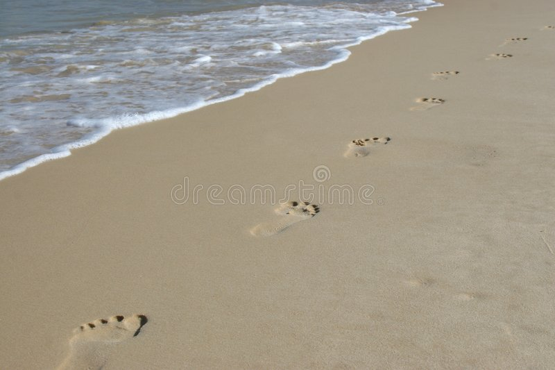 Download Footprints In The Sand Stock Images - Image: 4469994
